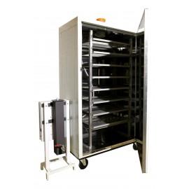 Rozsdamentes tálcarendszer 10 darab tálcával 80*80 - 2000 literes szekrényh