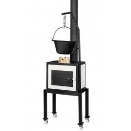 Kerti konyha kemencével, grillezővel, bográcsolóval