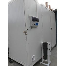 Használt téli-nyári 300 kiló kapacitású füstölőszekrény