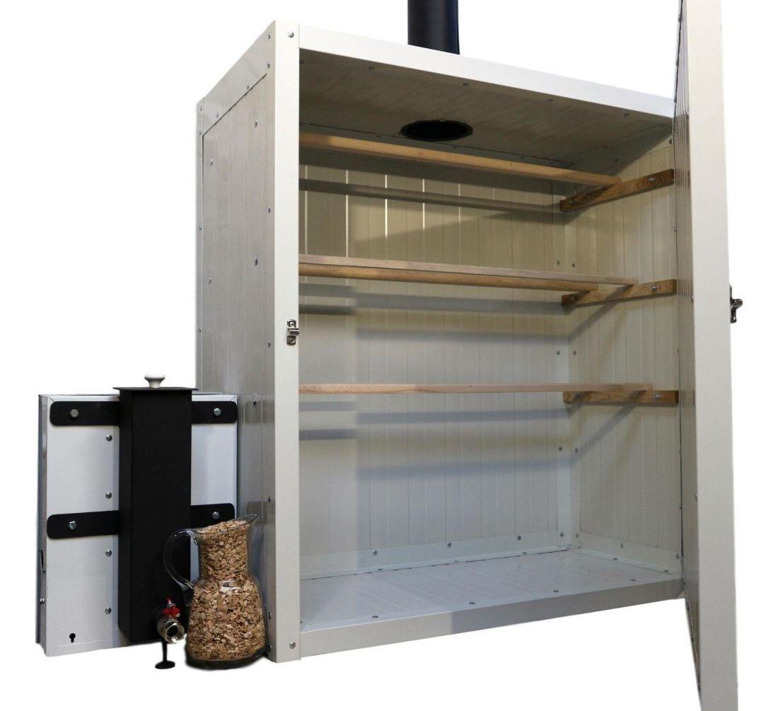Füstgenerátor hidegfüstöléshez - kompakt kivitel füstölőszekrénnyel - 400 l