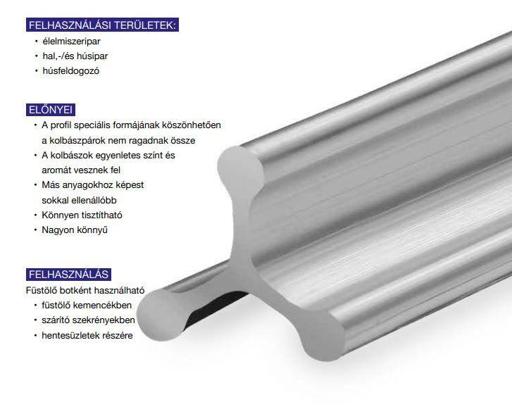 Aluminium füstölőbot