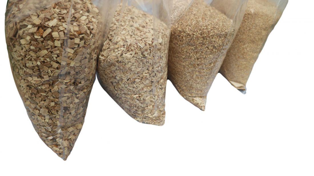 6 kg (4*1,5 kg) különböző szemcseméretű prémium bükkfa alom próbacsomag