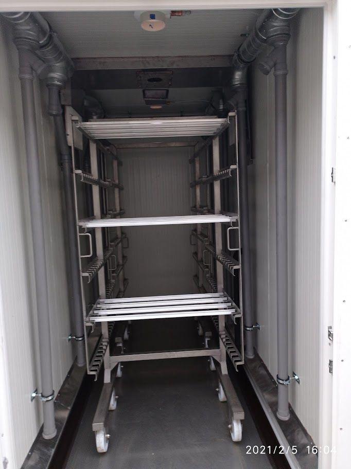 2 kocsis légkezelt füstölőszekrény (új)